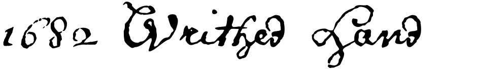 Click to view  1682 Writhed Hand font, character set and sample text