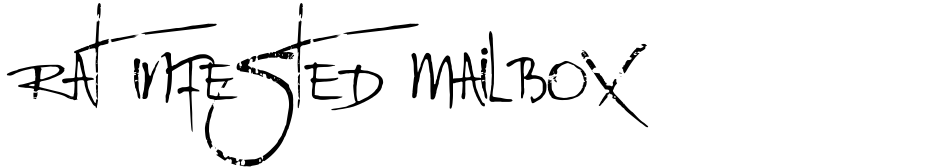 Click to view  Rat Infested Mailbox font, character set and sample text