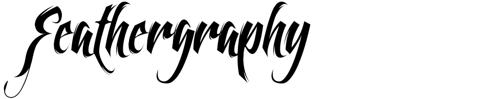 Click to view  Feathergraphy font, character set and sample text