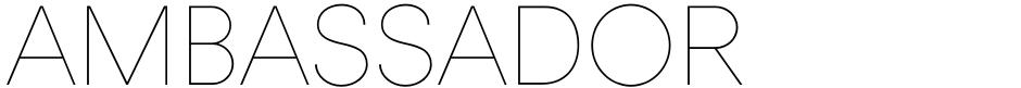 Click to view  Ambassador font, character set and sample text