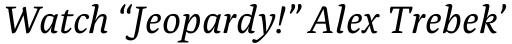 Alda Italic sample