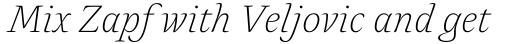 Alda Light Italic sample