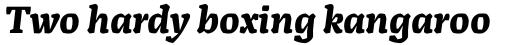 Alda Bold Italic sample