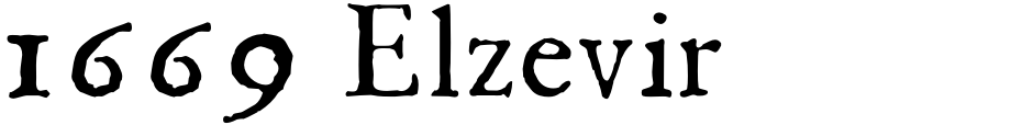 Click to view  1669 Elzevir font, character set and sample text