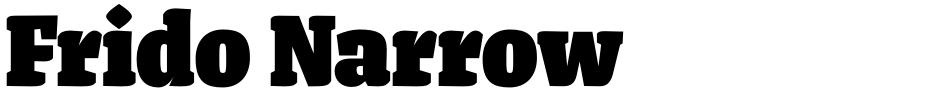 Click to view  Frido Narrow font, character set and sample text