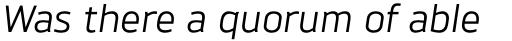 Brokman Italic sample