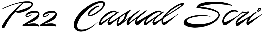 Click to view  P22 Casual Script font, character set and sample text