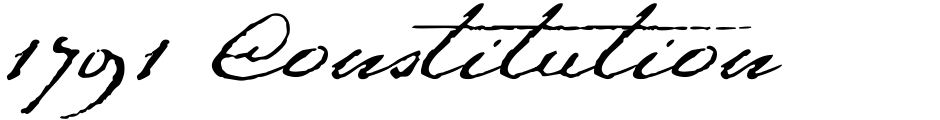 Click to view  1791 Constitution font, character set and sample text