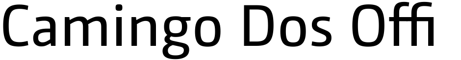 Click to view  Camingo Dos Office font, character set and sample text