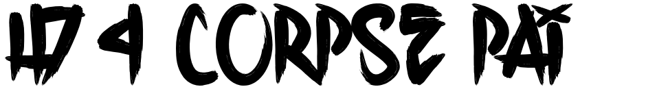 Click to view  H74 Corpse Paint font, character set and sample text