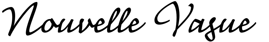 Click to view  Nouvelle Vague font, character set and sample text