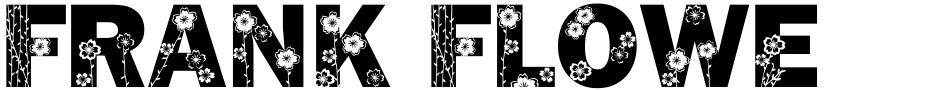 Click to view  Frank Flowers font, character set and sample text