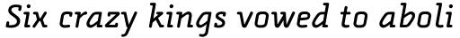 FF Alega Serif Pro Regular Italic sample