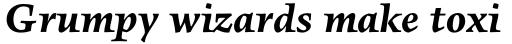 FF Angkoon Std Bold Italic sample