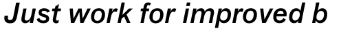 FF Bau Pro Medium Italic sample