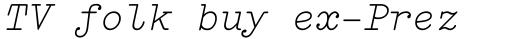 FF Elementa Pro Regular Italic sample