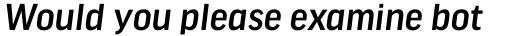 FF Good Headline Pro Medium Italic sample