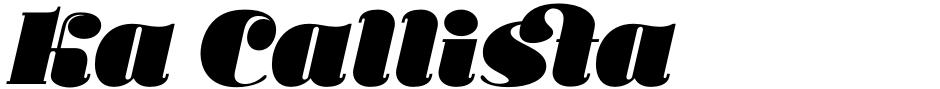 Click to view  Ka Callista font, character set and sample text