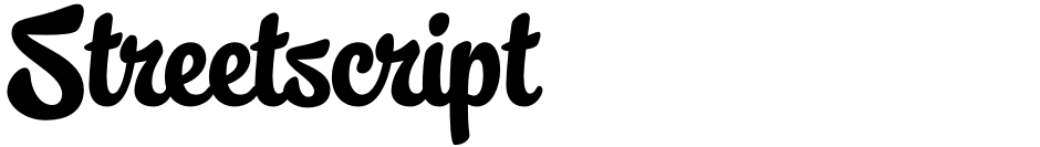 Click to view  Streetscript font, character set and sample text
