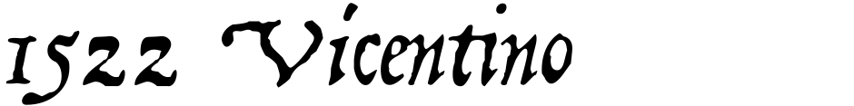 Click to view  1522 Vicentino font, character set and sample text
