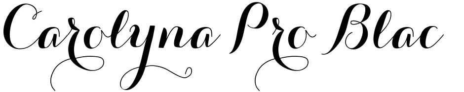 Click to view  Carolyna Pro Black font, character set and sample text