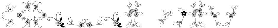 Click to view  Menina Graciosa Ornaments font, character set and sample text