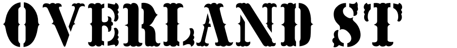 Click to view  Overland Stage JNL font, character set and sample text