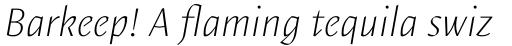 Elemental Sans Pro ExtraLight Italic sample