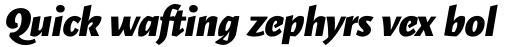 Elemental Sans Pro ExtraBold Italic sample