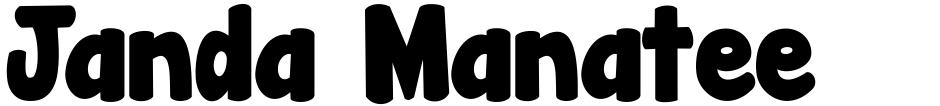 Click to view  Janda Manatee font, character set and sample text