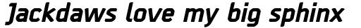 Borda Extra Bold Italic sample