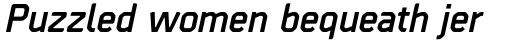 Borda Bold Italic sample