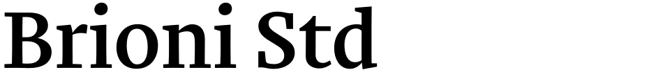 Click to view  Brioni Std font, character set and sample text