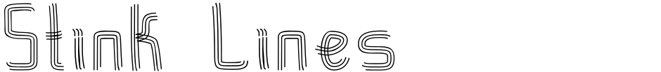 Click to view  Stink Lines font, character set and sample text