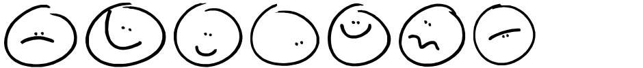 Click to view  Sketchy Smiley II font, character set and sample text