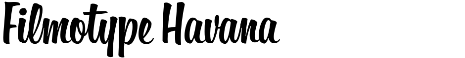 Click to view  Filmotype Havana font, character set and sample text