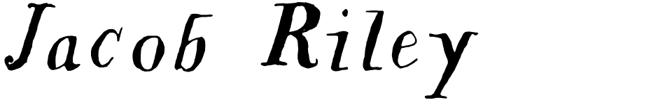 Click to view  Jacob Riley font, character set and sample text