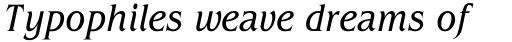ITC Benguiat Condensed Book Italic sample