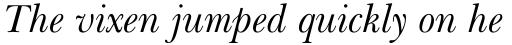 Baskerville WGL Italic sample