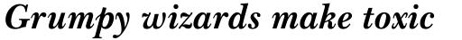 Baskerville WGL Bold Italic sample