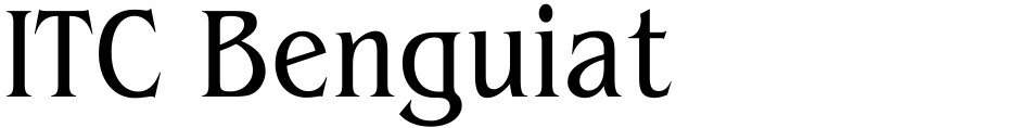 Click to view  ITC Benguiat font, character set and sample text