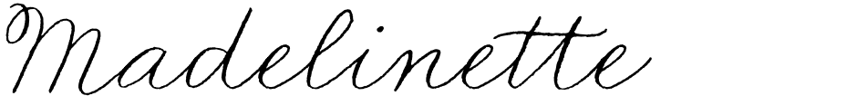 Click to view  Madelinette font, character set and sample text
