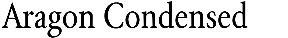 Click to view  Aragon Condensed font, character set and sample text