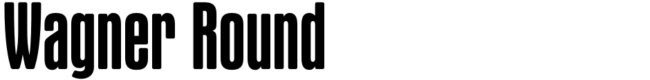 Click to view  Wagner Round font, character set and sample text