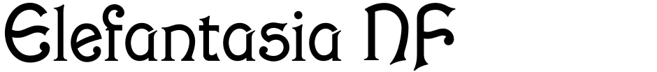 Click to view  Elefantasia NF font, character set and sample text