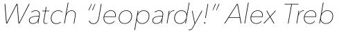 Avenir Next Pro Ultralight Italic sample