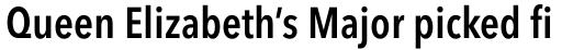 Avenir Next Pro Condensed Demi sample