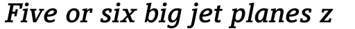Compatil Letter Pro Bold Italic sample