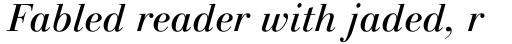 Linotype Gianotten Pro Italic sample