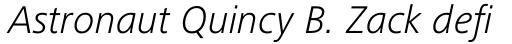 Frutiger Next Pro Light Italic sample